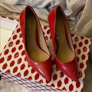 Red Aldo pumps